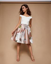 valtia Chatsworth jacquard off-shoulder dress at Ted Baker