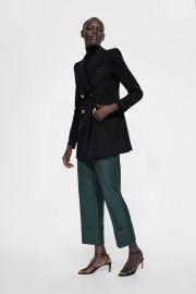 velvet double breasted frock coat at Zara