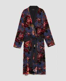 velvet kimono at Zara