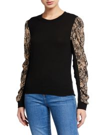 veronica beard Adler Mixed Media Sweater at Neiman Marcus