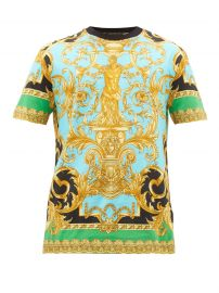 versace Baroque-print cotton T-shirt at Matches