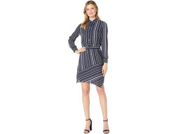 vince striped shirtdress at Zappos