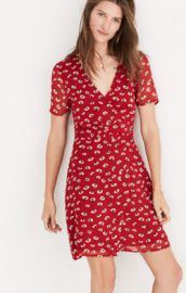 wrap-front mini dress in seattle floral by Madewell at Madewell