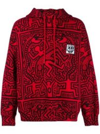 x Keith Haring Odysseus printed hoodie at Farfetch