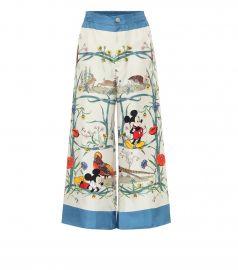 x Disney   printed silk palazzo pants at Mytheresa