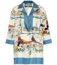 x Disney   silk-twill shirt at Mytheresa