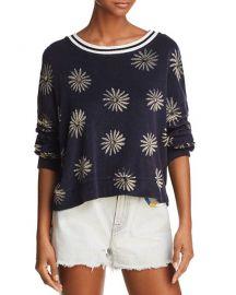 x Margherita Daisy Print Terry Sweatshirt at Bloomingdales