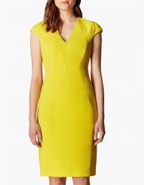 yellow v neck dress at John Lewis