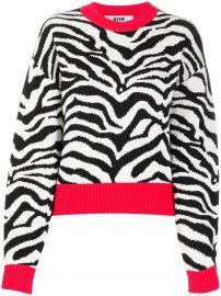 zebra knit slouchy jumper at Farfetch