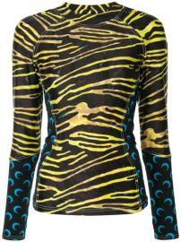 zebra-print long sleeve T-shirt at Farfetch