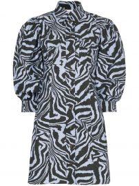 zebra-print mini shirt dress at Farfetch
