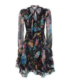 zimmermann Silk Floral Wrap Dress at Harrods