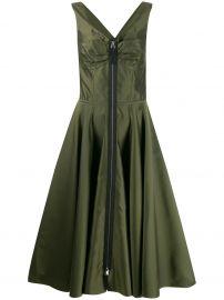 zipped flared midi dress at Farfetch
